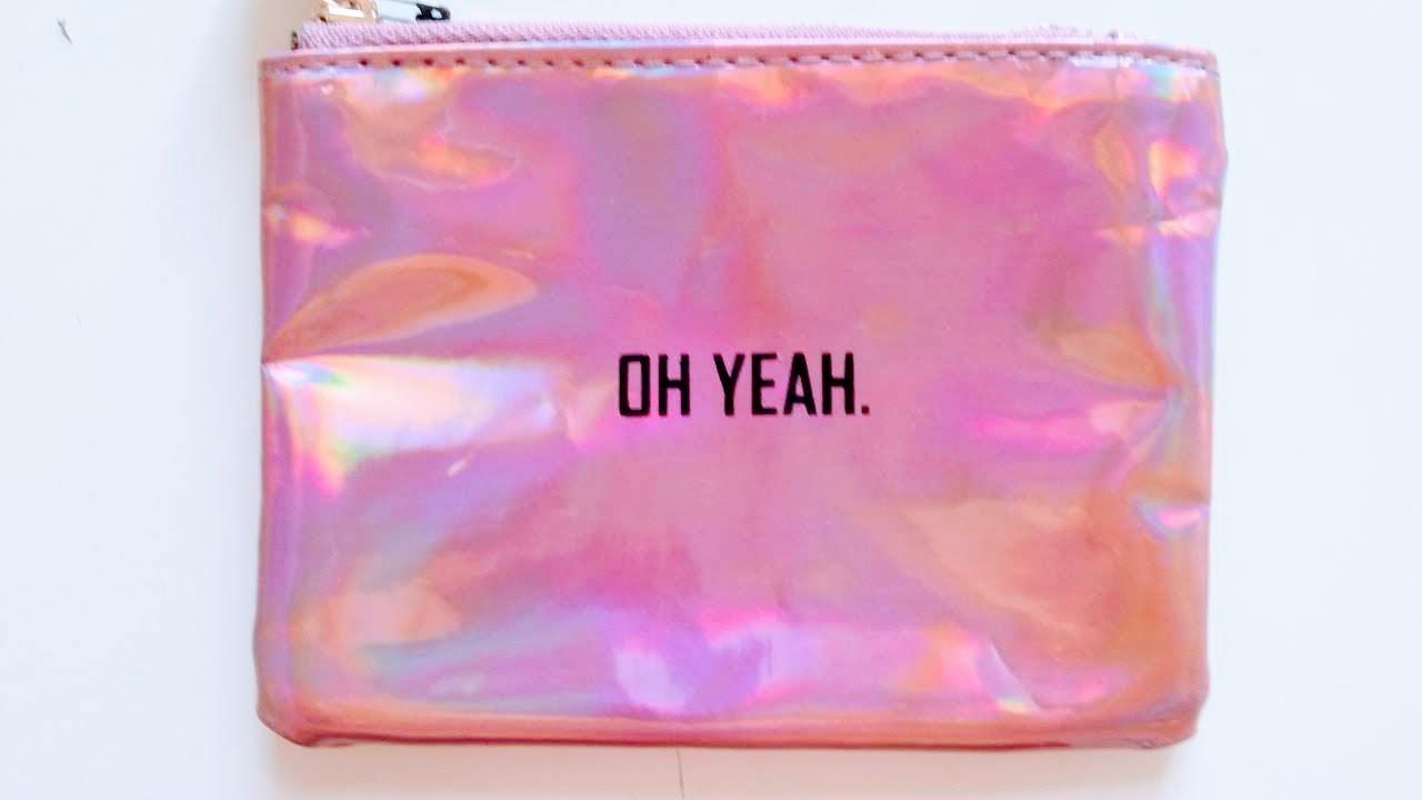 pink glitzertasche